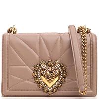 Маленькая сумка Dolce&Gabbana Devotion бежевого цвета, фото