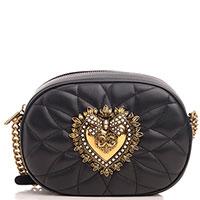 Маленькая сумка Dolce&Gabbana Devotion с декором в виде сердца, фото
