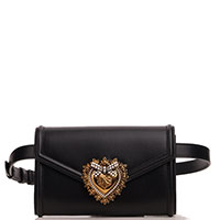 Поясная сумка Dolce&Gabbana Devotion черного цвета, фото