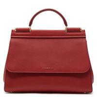 Темно-красная сумка Dolce&Gabbana Sicily Soft, фото