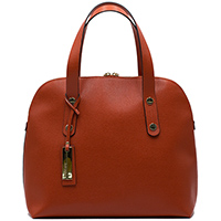 Коричневая сумка Ripani из кожи с тиснением сафьяно, фото
