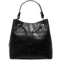 Черная сумка-мешок Ripani с декоративной перфорацией, фото