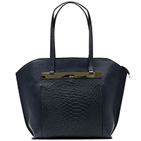 Синяя сумка Ripani с золотистым декором, фото