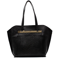 Черная сумка Ripani с золотистой фурнитурой, фото