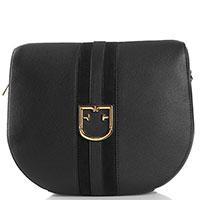 Черная сумка Furla Gioia с широким съемным ремнем, фото