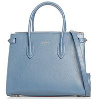 Деловая сумка Furla Pin голубого цвета, фото