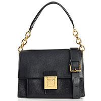 Черная маленькая сумка Furla Diva из зернистой кожи, фото