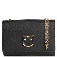 Черная сумка Furla Viva прямоугольной формы, фото