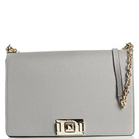 Светло-серая сумка Furla Mimi среднего размера, фото