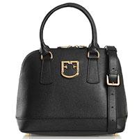 Деловая черная сумка Furla Fantastica со съемным ремнем, фото