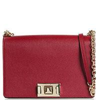 Бордовая сумка-кроссбоди Furla Mimi из мелкозернистой кожи, фото