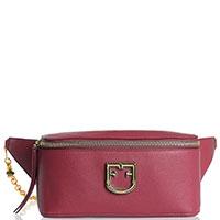 Бордовая поясная сумка Furla Isola с регулируемым ремешком, фото