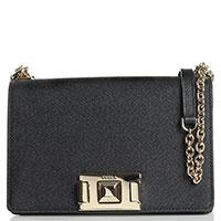 Черная сумка-кроссбоди Furla Mimi на цепочке, фото