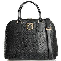Черная деловая сумка Furla Fantastica с фирменным тиснением, фото