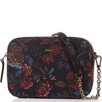 Разноцветная сумка Furla с цветочным узором, фото