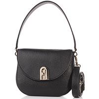 Женская сумка Furla из черной кожи, фото