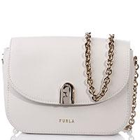 Белая сумка Furla на цепочке, фото