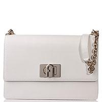 Женская белая сумка Furla на цепочке, фото