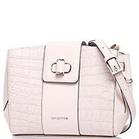 Маленькая бежевая сумка Cromia Mali с тиснением, фото