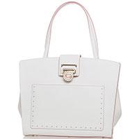 Белая сумка Cromia Nubia с розовым кантом, фото