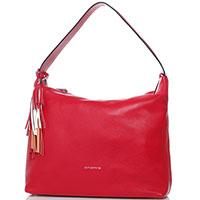 Красная сумка Cromia Kissa на широком ремне, фото
