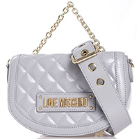 Стеганая сумка Love Moschino с ручкой-цепочкой, фото