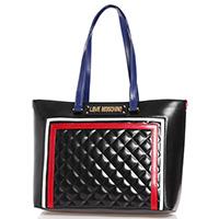 Черная сумка Love Moschino с цветными элементами, фото