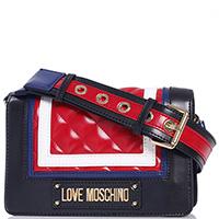 Женская сумка Love Moschino на широком плечевом ремне, фото