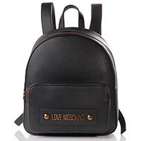 Черный рюкзак Love Moschino с металлическим логотипом, фото