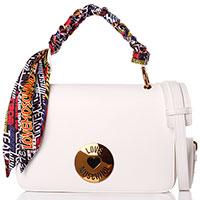 Белая сумка Love Moschino с платком, фото