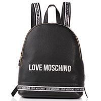 Черный рюкзак Love Moschino с белыми вставками, фото