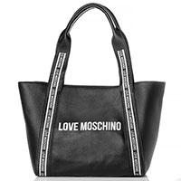 Сумка-тоут Love Moschino черного цвета, фото