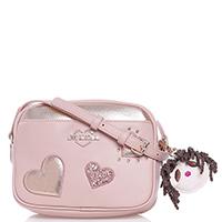 Розовая сумка Love Moschino со съемным брелком, фото