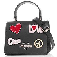 Черная сумка Love Moschino с цветным декором, фото