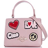 Маленькая сумка Love Moschino с текстильной аппликацией, фото
