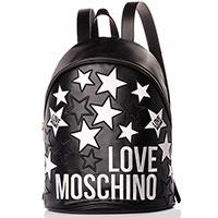 Черный рюкзак Love Moschino с декором в виде звезд, фото