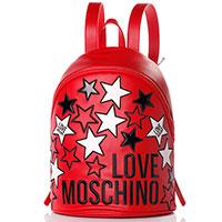 Красный рюкзак Love Moschino со звездами, фото