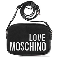 Черная сумка-кроссбоди Love Moschino с вышитым логотипом, фото