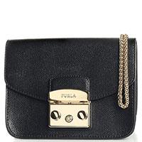 Маленькая сумка Furla Metropolis из черной кожи, фото