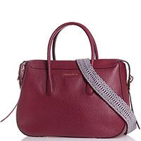 Деловая сумка Coccinelle бордового цвета, фото