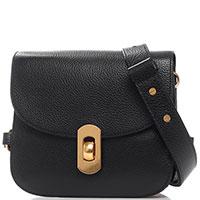 Маленькая сумка Coccinelle Zaniah Mini из кожи черного цвета, фото
