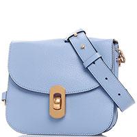 Сумка-кроссбоди Coccinelle Zaniah Mini голубого цвета, фото