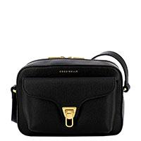 Черная сумка Coccinelle из натуральной кожи, фото