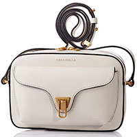 Белая сумка Coccinelle на ремне, фото