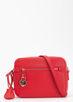 Красная сумка Trussardi прямоугольной формы, фото