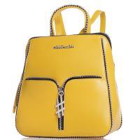 Желтый рюкзак Tosca Blu  с металлическим декором, фото