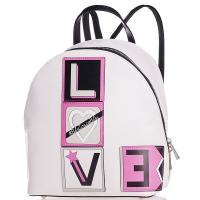 Белый рюкзак Tosca Blu  с декором-нашивками, фото