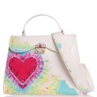 Деловая сумка Tosca Blu с узором-сердцем, фото