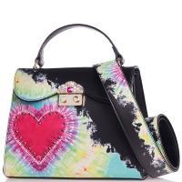 Черная сумка Tosca Blu с рисунком в виде сердца, фото