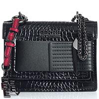 Маленькая черная сумка Ferre Collezioni Dorado на цепочке, фото